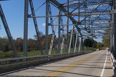 Steel truss bridge near Poland, IN