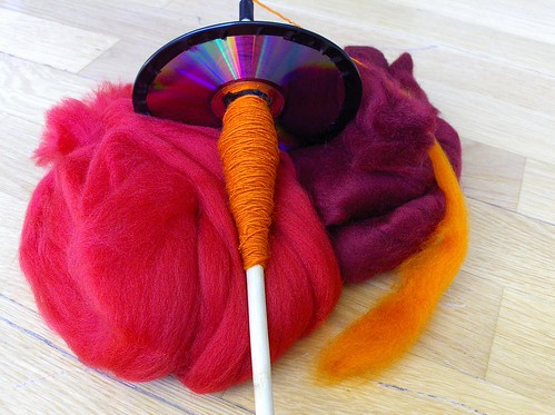 Merino red on CD spindle