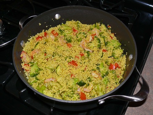Curried Shrimp and Summer Vegetable Couscous