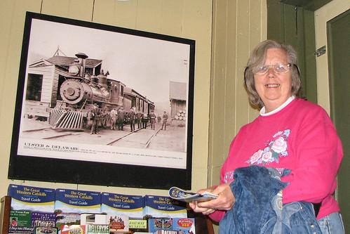 Grandma in museum