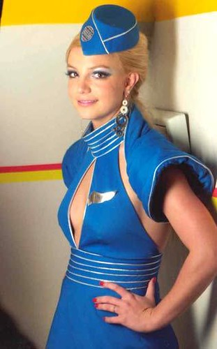 Britney Spears as sexy flight attendant in Toxic video