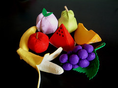 felt fruit set