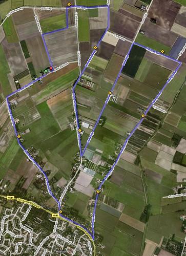 parcours hoevense polderloop 10 km