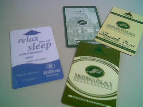 STP's hotel key cards 1