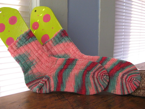Moms tye-dyed socks
