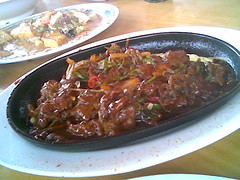 SF's sizzling hot plate venison