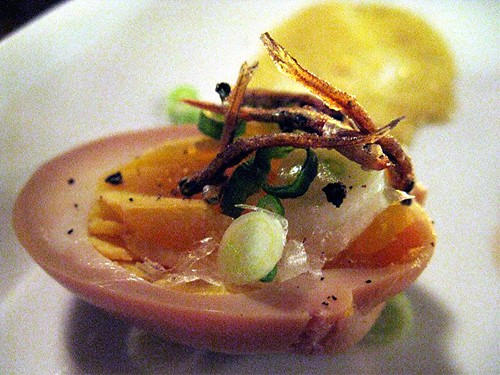 egg with anchovies at Joule