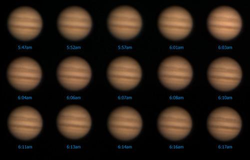 Jupiter Time Lapse - 5/26/08