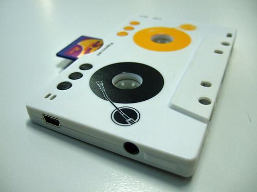 mp3 cassette player, mini USB & audio port