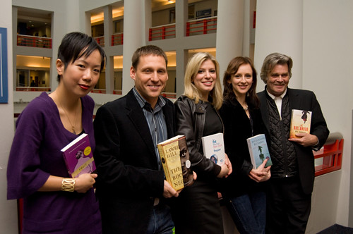 The Canada Reads 2009 panelists and their chosen books.  Photo Credit: CBC