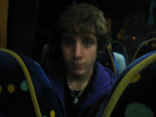 Ned on the coach.