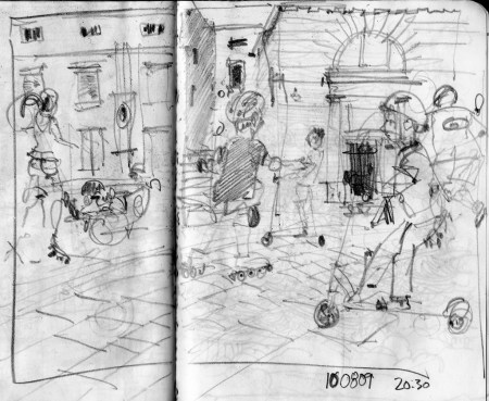 piran, tartinijev trg, rolling, slovenia