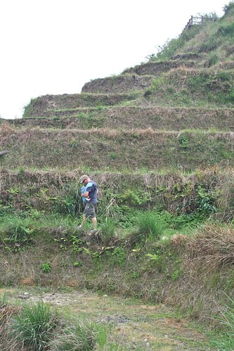 Walking through the rice terraces