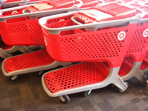 Target has plastic carts