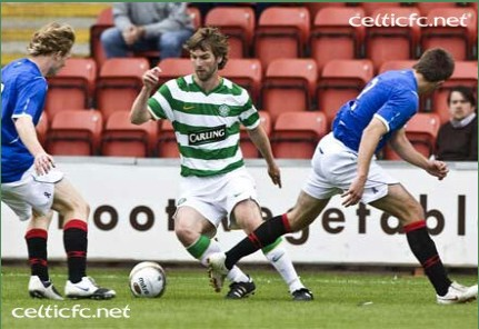 Me at the Celtic vs. Rangers Reserves Game