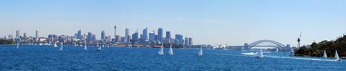 Detalle de Sydney desde el mar