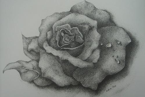 惠珠_點畫玫瑰