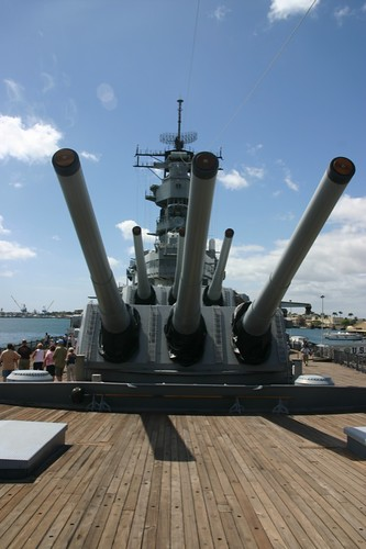 Guns on the USS Missouri
