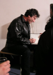 Neil Gaiman speaking at a fundraiser for the Open Rights Group, Clerkenwell, London, October 24, 2008