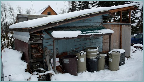 Storage shed, Government Hill neighborhood, Anchorage.