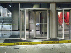 Busted revolving door @ CNN