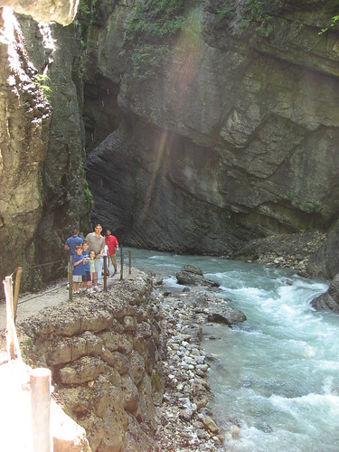 Doug and kids in the gorge