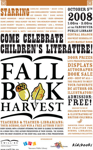 2008 Fall Book Harvest Poster (letter size)
