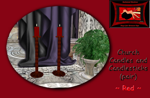 Church Candles - Red