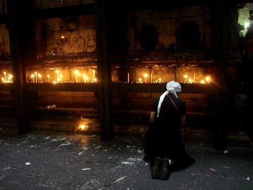 praying around the Holy Sepulchre