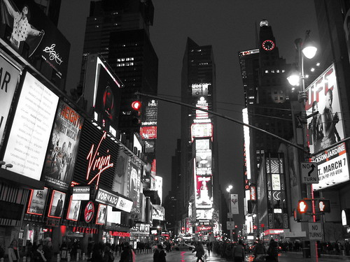 Times Square was total sensory overload. I had to look at it in black & white to even handle it.