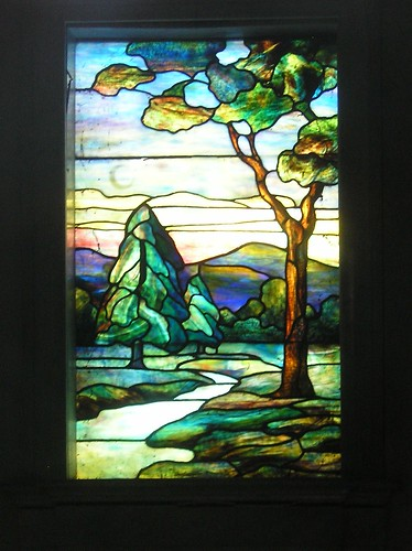 Stained Glass window at Rock Creek Cemetery