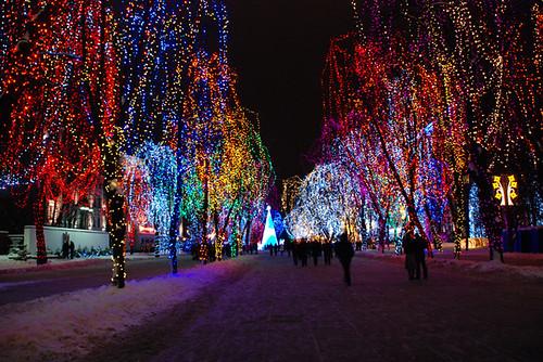 Днепропетровск, новогодняя иллюминация
