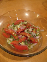 Tomato Salad with Cilantro Lime Dressing