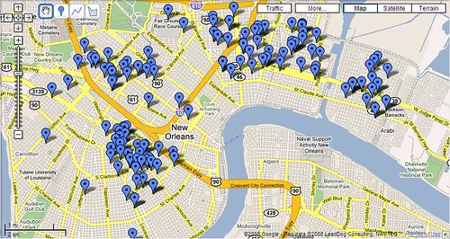 Map All Demolition Permits Issued Post Gustav by PRC Advocacy Department.
