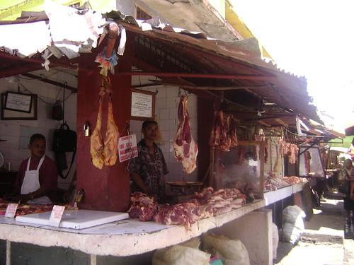 Meat market in Tana.