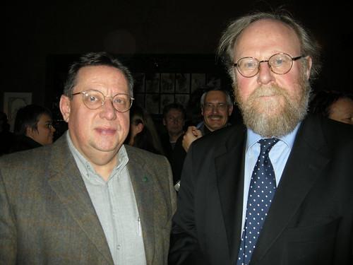 Michael Engler und Wolfgang Thierse am 20.11.2008 im Café Garbáty
