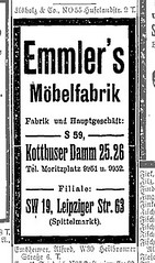 Anzeige Emmler's Möbelfabrik, 1914