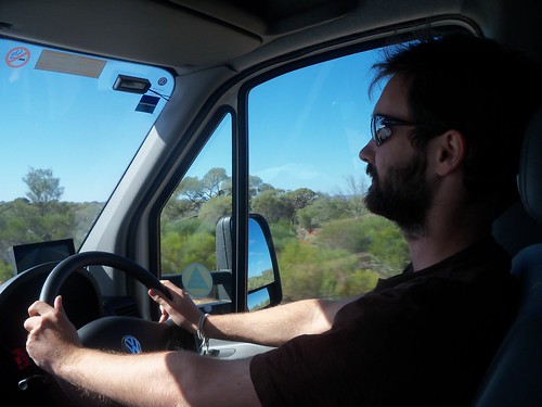 Driving a moving vehicle