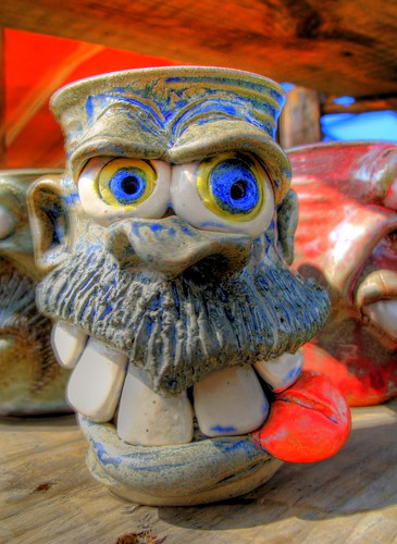 Crazy Face Pottery in HDR by you.