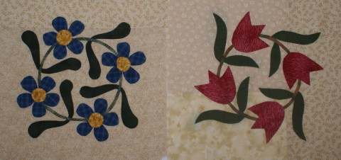 Applique blocks
