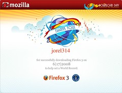 Firefox Download Day Certificate 2008