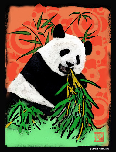 Panda Batik by Sandra Miller ©2008 All rights reserved