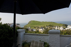 A view of Capstone Hill from the patio of our cottage
