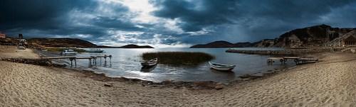 Morgendliche Regenstimmung auf Isla del Sol