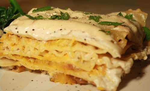 Butternut and Camerlized Onions Lasagna