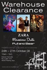 Zara, Massimo Dutti, Pull and Bear warehouse sale