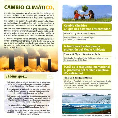 Conferencia Cambio Climatico en el Jardin Botánico.