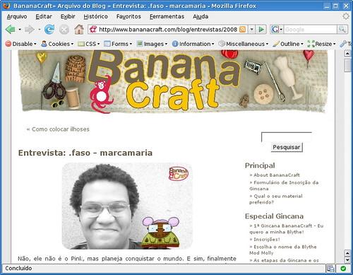 Eu e a Banana