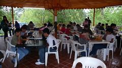 El kiosco lleno de ajedrecistas