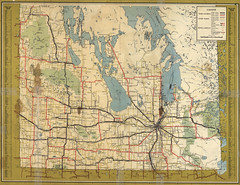 Manitoba Canada North Star Highway Map (1955)